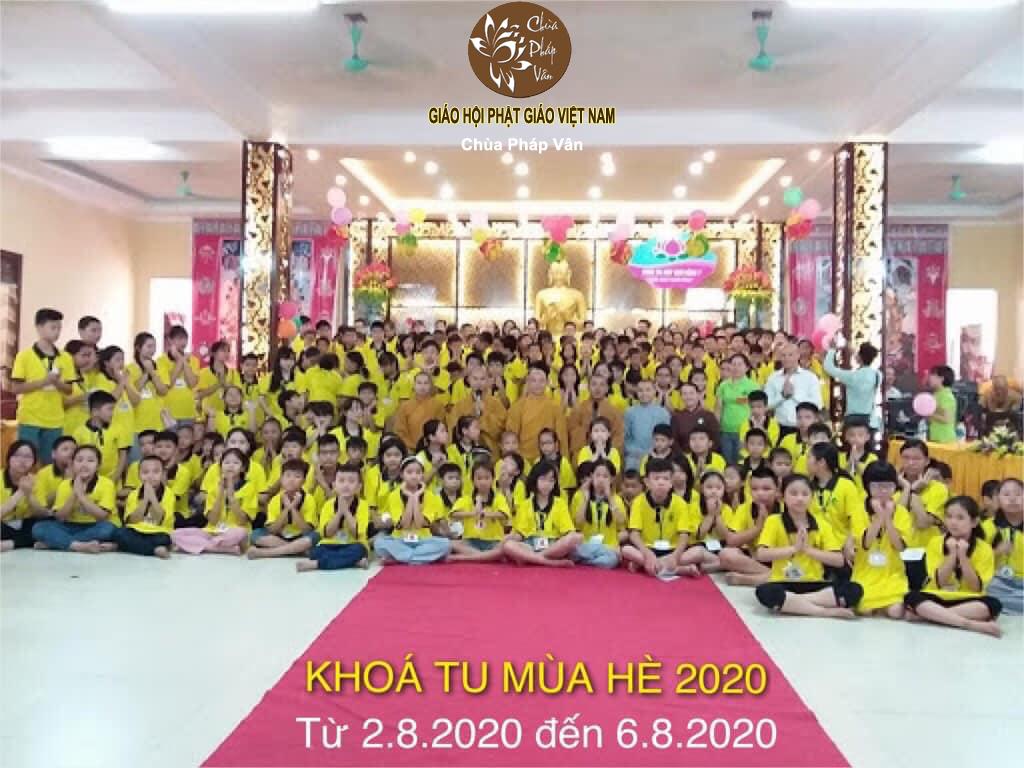 Thông báo khóa tu mua hè chùa pháp vân 2020