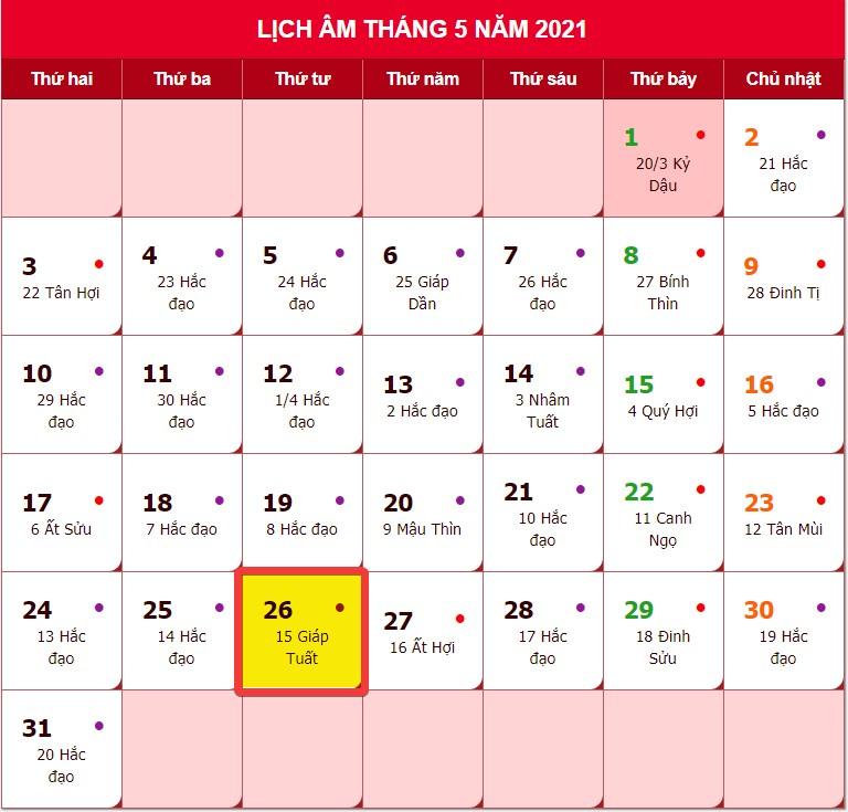 Lễ Phật Đản năm 2021 nhằm ngày nào?